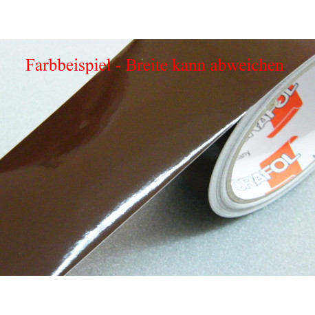 Zierstreifen braun glänzend RAL 8011