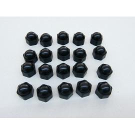 Rallye Caps - Abdeckungen für Radschrauben / Muttern 17 mm schwarz