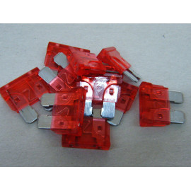 10x Flachsicherungen 10 Ampere