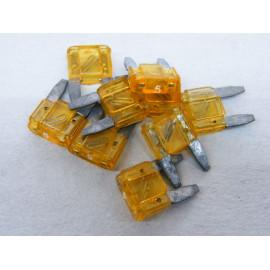 10 Stück Mini Flachsicherungen 5 Ampere