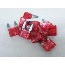 10 Stück Mini Flachsicherungen 10 Ampere