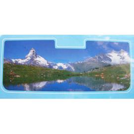Sonnenschutz für die Frontscheibe Motiv Bergsee