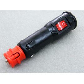 Stecker mit Schalter für Zigarettenanzünder und Steckdose