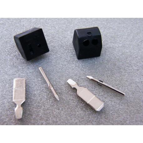 2 Stück Lautsprecherstecker DIN für Boxen steckbar