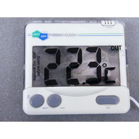 Thermometer Uhr für innen und aussen