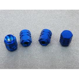 Ventilkappen Aluminium blau