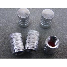 Ventilkappen Aluminium silber