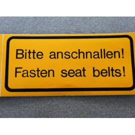 Bitte anschnallen Aufkleber für Auto und LKW