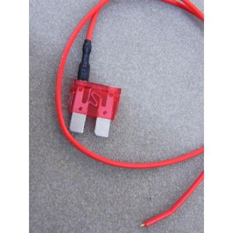 Flachsicherung 10 Ampere mit Kabel
