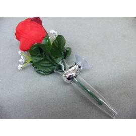 Kamei Blumenvase für das Armaturenbrett chrom