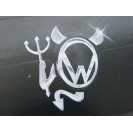 Aufkleber für Markenschild chrom Teufel Neptun mit Dreizack