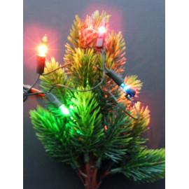 Weihnachtsbaum 12 V Volt mit 5 bunten Lichtern für Auto und LKW