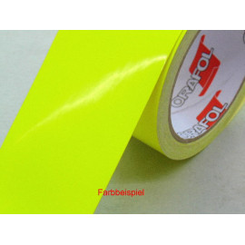 Zierstreifen 70 mm leuchtgelb RAL 1026