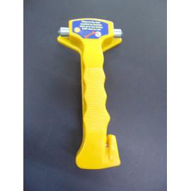 Nothammer mit Gurtschneider gelb - leuchtet im dunkeln