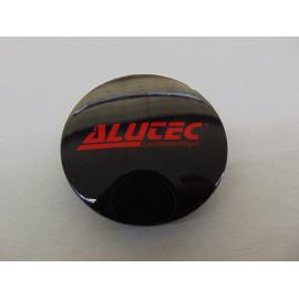 Nabenkappe Alutec N32 schwarz/rot glänzend