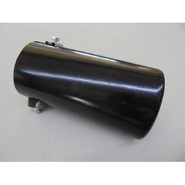 Auspuffblende zum anschrauben 80 mm x 60 mm schwarz eloxiert