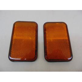 2 Stück Reflektoren gelb/orange selbstklebend