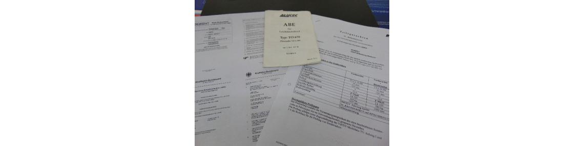 ABEs und TÜV Gutachten